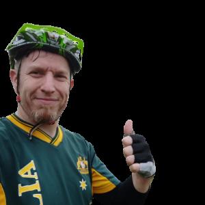 Fahrradnavigation - Oliver mit Daumen hoch wünscht immer gute Fahrt!