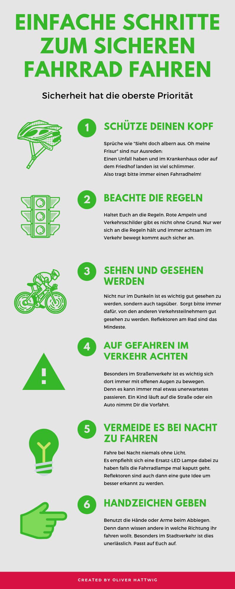 Einfache Schritte zum sicheren Fahrrad fahren