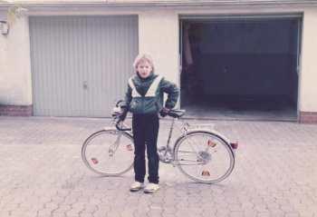 Ich mit Fahrrad 80er