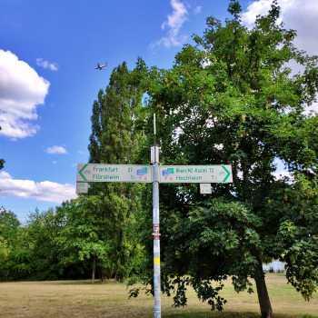 Mainradweg Schild