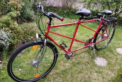 Unser rotes Tandem